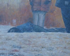 David Garneau, Lost, Acrylic on canvas, 122 x 153 cm_2009