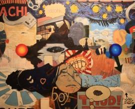 David Garneau, Starlight Tour. Oil on canvas. 122 x 153 cm. 2008